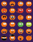 visages de smiley de Jack-o-lanterne illustration de vecteur