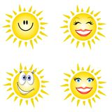Visages de smiley de soleil