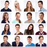 Visages de sourire photographie stock libre de droits