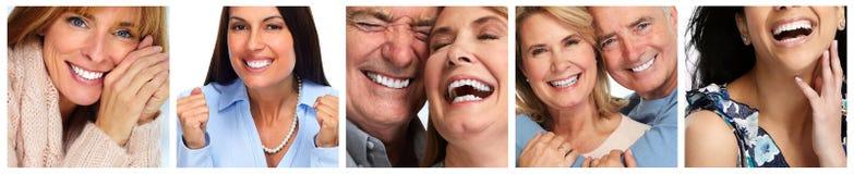 Visages de sourire heureux Photographie stock libre de droits