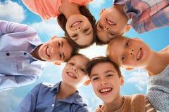Visages de sourire heureux d'enfants Image libre de droits