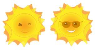 Visages de Sun Photographie stock libre de droits