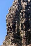 Visages de temple antique de Bayon chez Angkor Wat Image stock