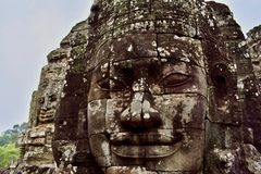 Visages de temple de Bayon photographie stock libre de droits