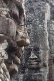 Visages de temple de Bayon Photographie stock libre de droits