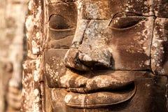 Visages de temple de Bayon Image libre de droits