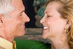 Visages des couples heureux Image stock
