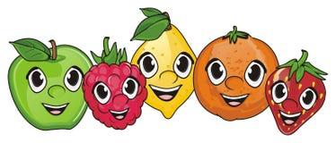 Visages des fruits Illustration de Vecteur