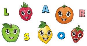 Visages des fruits Illustration Stock