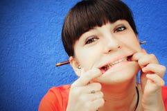 Visages effectuants de l'adolescence Photo stock