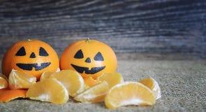 Visages effrayants peints des vacances de Halloween image libre de droits