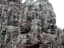Visages en pierre au Cambodge Photos libres de droits
