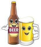 Visages heureux des signes de bière Photos stock