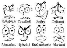 Visages humains avec différentes émotions Photos stock