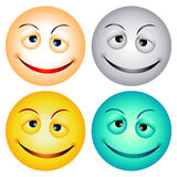 Visages souriants Photographie stock