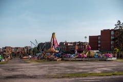 VISAGINAS, LITHUANIA - SEPTEMBER 23, 2017: Amusement park from Czech in Visaginas Town, Lithuania Royalty Free Stock Photo