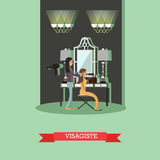 Visagist concept vector illustration in flat style Royalty Free Stock Images