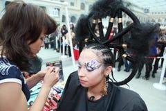 Free Visagiste Makes Makeup For Model Royalty Free Stock Image - 20697896