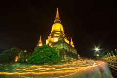 Visakha Bucha Day in Buddhism religion at the temple Stock Photography