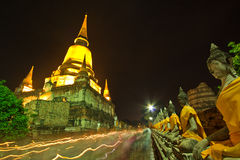 Visakha Bucha Day in Buddhism religion at the temple Royalty Free Stock Photo