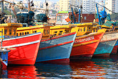 Visakhapatnam, INDIA. December 7 :Fishing harbor in Visakhapatnam was set up in 1976 spreading across 24 hectors of land . On December 7,2015 nn Royalty Free Stock Photos