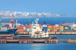 Visakhapatnam, India. December 9 : Visakhapatnam port is a second largest port by cargo handled in India, On December 9,2015 Royalty Free Stock Images