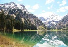 Visalpsee in Austria. Beautiful mountain lake in Austria Stock Photo