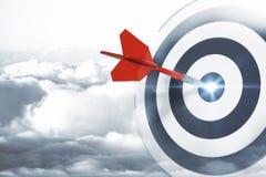 Visando, conceito apontar e de sucesso Foto de Stock