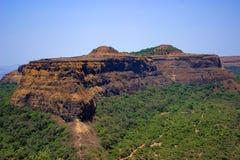 Visapur堡垒,看见从Lohagad, Malavali在浦那附近 免版税图库摄影
