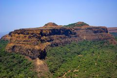 Visapur Fort, seen from Lohagad, Malavali near Pune. India Royalty Free Stock Photography