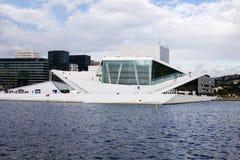 visar för den oslo för den flagstadhuskirsten norway operan statyn sångaren Royaltyfria Bilder