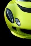 visar främre sportar för bil yellow royaltyfri foto