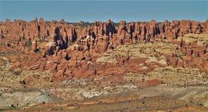 Visarna av Canyonlands Arkivfoto