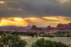 Visarområde av den Canyonlands nationalparken i Utah Royaltyfria Foton