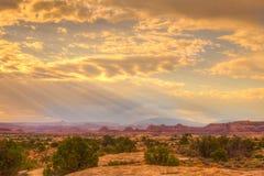Visarområde av den Canyonlands nationalparken i Utah Royaltyfri Fotografi