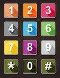 Visartavla för symbolsnummertelefon Arkivfoton