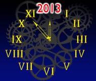 Visartavlan av timmar och 2013 royaltyfri illustrationer