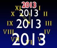 Visartavlan av timmar och 2013 stock illustrationer