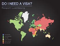 Visas information for Grand Duchy of Luxembourg. Royalty Free Stock Photography