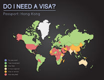 Visas information for Hong Kong passport holders. Royalty Free Stock Photos