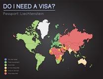 Visas information for Principality of. Liechtenstein Royalty Free Stock Photos