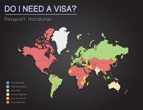 Visas information for Republic of Honduras. Royalty Free Stock Images