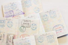 Visas on Japanese passort Stock Photography