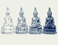 Visasende Buddha Arkivbilder