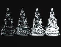 Visasende Buddha Arkivbild