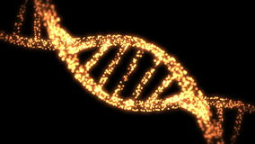 Visasende och försvinnande DNAspiral stock illustrationer