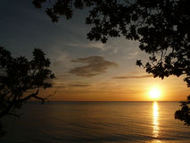 Visayan Sunset. Sunset view from Siqujior Island, Philippines royalty free stock photo