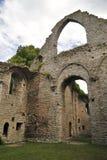 Visby哥特式教会废墟 库存图片