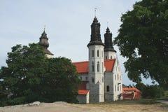 visby的大教堂 库存照片