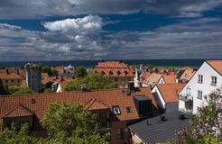 Visby city Stock Images